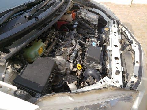 Toyota Aqua/Prius C Engine Wash with Water in ENGLISH