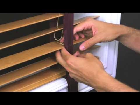 How to Replace Cloth Tape in a Horizontal Wood Blind