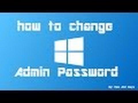 how to change admin password of windows 10