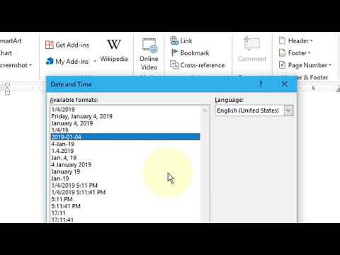 How to Insert Auto Update Time in MS Word