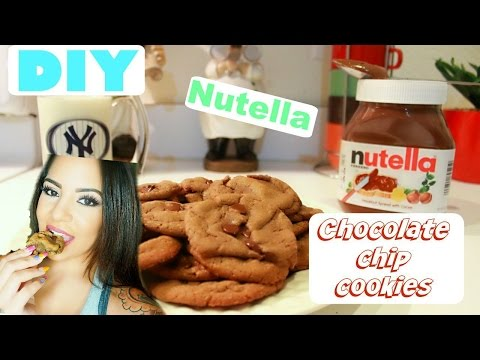 Best NUTELLA Chewy Chocolate Chip Cookies !