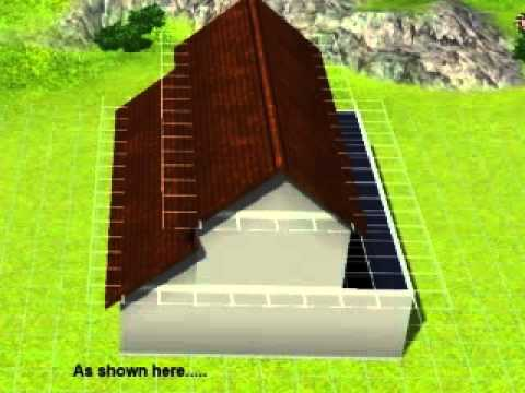Create a Barn Roof in Sims 3