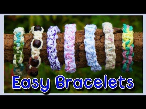 DIY Easy String Bracelets
