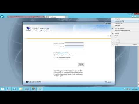Windows Server 2012 R2 Remote Desktop Services (RDS) Installation And Publish RemoteApp