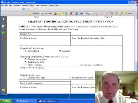 1 of 8, Statement of Intention & Missouri Bankruptcy Exemptions