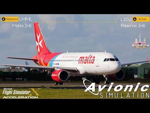 [FSX/IVAO] EuroTrip Alternativa - DEP Malta Intl [LMML] / ARR Palermo Intl [LICJ] Air Malta