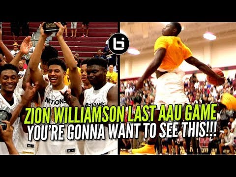 Zion Williamson WENT CRAZY In LAST AAU GAME EVER! Adidas Nations Championship Highlights