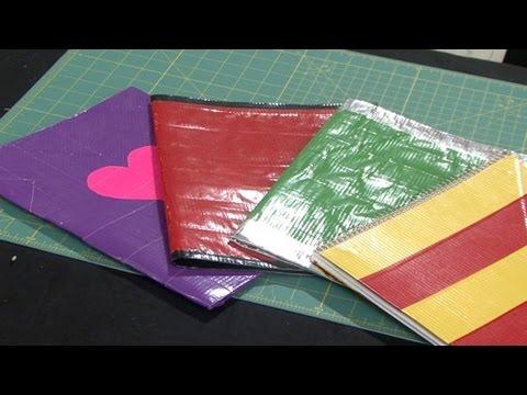 Fun Duct Tape Folders