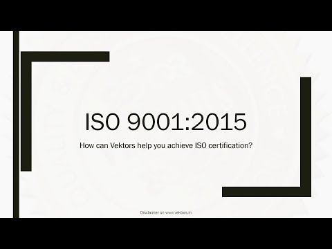 How can Vektors help you achieve ISO certification?