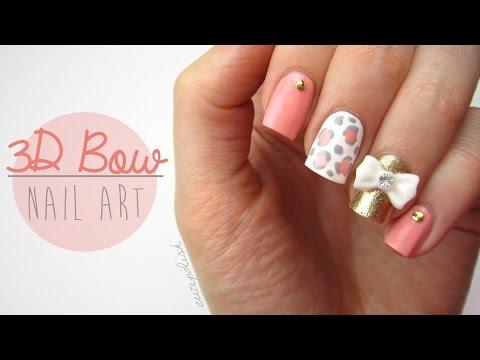 Cute 3D Bow Nail Art