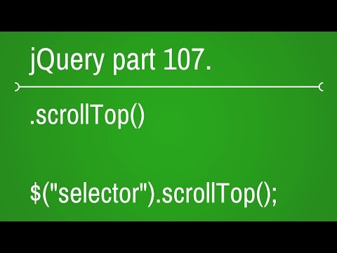 jquery scroll top function - part 107