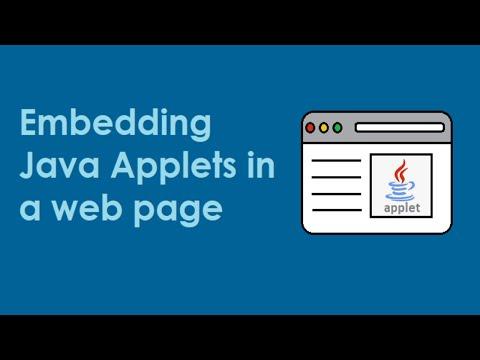 embedding  applet in html