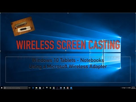 Tablet and Notebook Screen Casting | Using Wireless Microsoft Adapter | Miracast