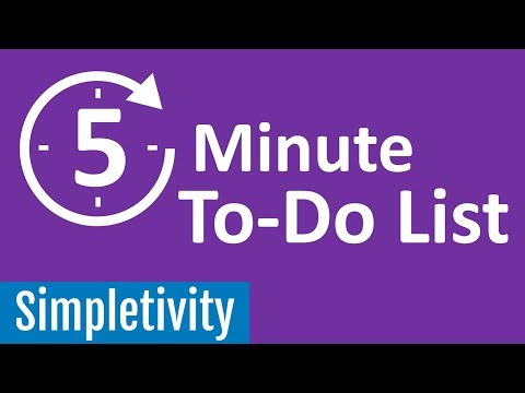 5 Minute To-Do List ☑️ (Guided Productivity)