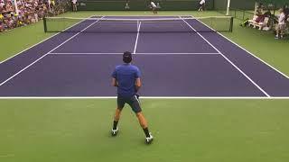 Roger Federer 2018 Indian Wells Practice