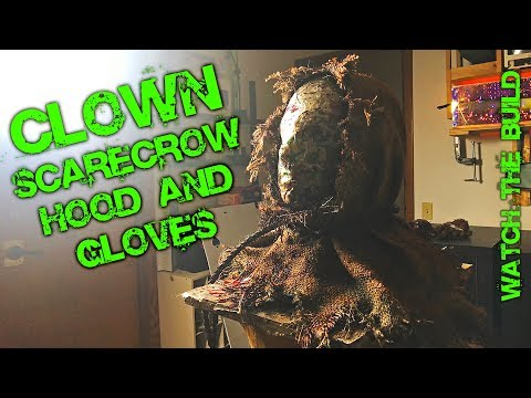 DIY Clown Scarecrow Hood and Gloves Build This was the best way to make Hood for costume