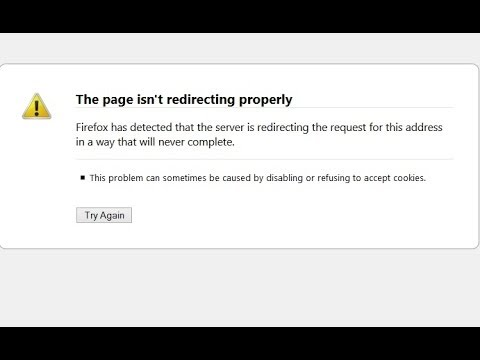 The page isn't redirecting properly (Solved) ---- Mozilla Firefox ----