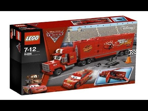 Lego Disney cars 8486 Lightning McQueen - Lego Speed Build