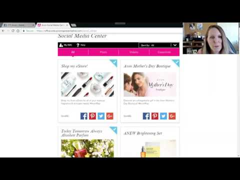 How to Share from your Avon Social Media Center and Why you should