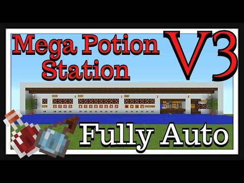 Minecraft Tutorial : Mega Potion Station V3 Fully Auto