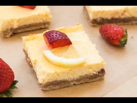 Strawberry Lemon Cream Cheese Bars - Easy Delicious Dessert