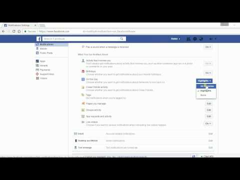 How to Change Facebook Notification Settings