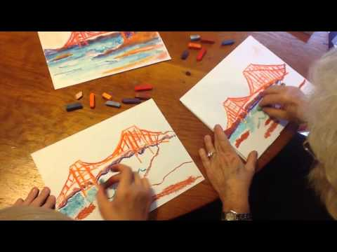 How to Draw the Golden Gate Bridge with Chalk Pastels
