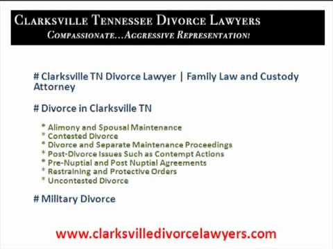 Divorce Lawyers Clarksville Tennessee