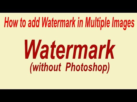 How to add Watermark in Multiple Images at Once