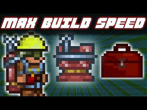 TERRARIA 1.3.5 - MAX BUILDING SPEED
