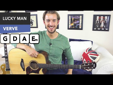 The Verve - Lucky Man Guitar Lesson - EASY 3 Chord Song (mainly..)