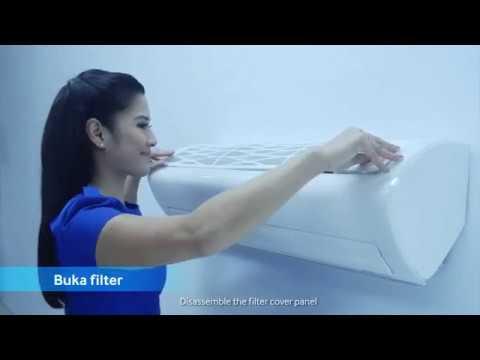 Cara membersihkan filter debu.
