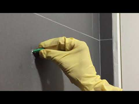 How to drill a hole onto the tile wall