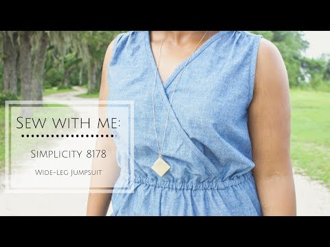 Sew With Me: Simplicity 8178 Wide Leg Jumpsuit