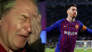 Messi brings Ray Hudson to tears after Hattrick │Real Betis Vs Barcelona 1-4│ HD 2019