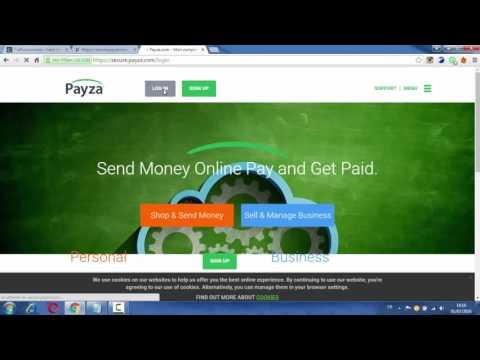كيفية تغيير ايميل البايبال PayPal إلى بايزا Payza في موقع TrafficMonsoon وتحويل الأموال