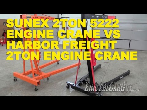 Sunex 2 Ton 5222 Engine Crane vs Harbor Freight 2 Ton Engine Crane -EricTheCarGuy