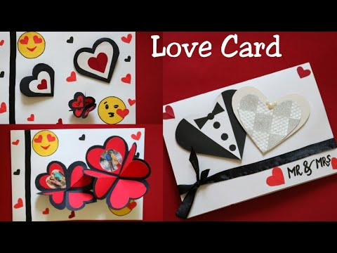 DIY Marriage Anniversary Card For Hubby/Making Heart Popup card for Wedding Anniversary/Heart card