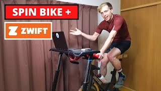 My Indoor Cycling Setup Tour - How to Use a Spin Bike on Zwift