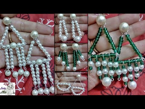 #109 How to make pearl Earrings for Office/Collage going Girls | Diy | Jewellery Making | Jewelry