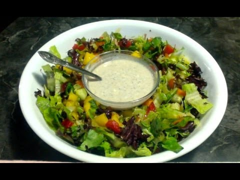 Veggie Salad with Instant Homemade Dressing