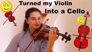 Violin Turned Into Cello To Play The Swan! + GIVEAWAY