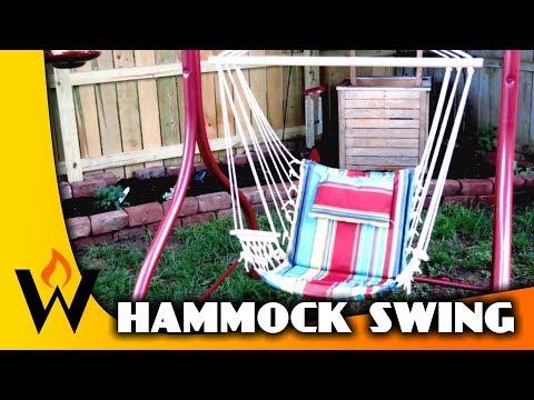 DIY Hammock Chair from Old Swing Frame