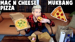 MAC N CHEESE PIZZA MUKBANG (Eating Show) Watch Me Eat & Chat About Life