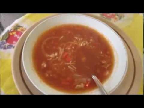 Sopa de fideo con pollo. COCINA FACIL Y PRACTICA