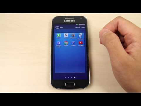 How to reorganize and remove page, apps and widgets on Samsung Galaxy S4 mini