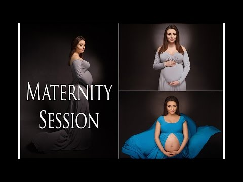 Maternity session - the lighting and portrait in a studio. Tips and tutorial for photographers.