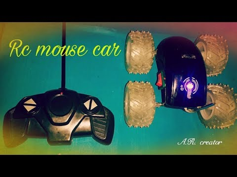 how to make fast rc monster mouse car at home easily with waste material.