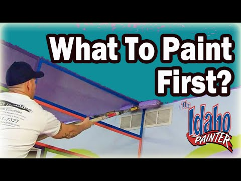 What Should You Paint First?  DIY Painting Ceiling, Walls, Or Trim?