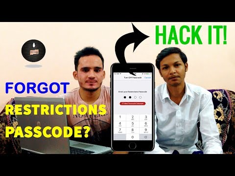 How to hack iphone restriction password | iphone, ipad , ipod touch ios 11.2.1 - 10.3 -10 , 9 , 8 ,7